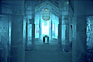Ingresso dell'Ice Hotel di Jukkasjärvi